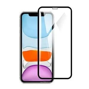 Apple iPhone XR Black Full Cover Coverage Tempered Glass