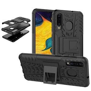 Samsung Galaxy A20 Black Heavy Duty Case