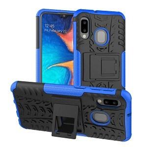 Samsung Galaxy A20 Blue Heavy Duty Case