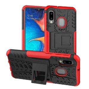 Samsung Galaxy A20 Red Heavy Duty Case