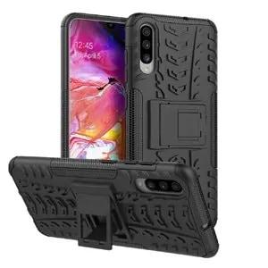 Samsung Galaxy A70 Black Heavy Duty Case