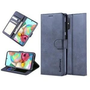 Samsung Galaxy A71 Navy Blue Wallet Case