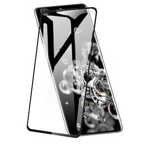 Samsung Galaxy S20 Ultra Black Tempered Glass