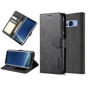 Samsung Galaxy S8 Black Wallet Leather Case