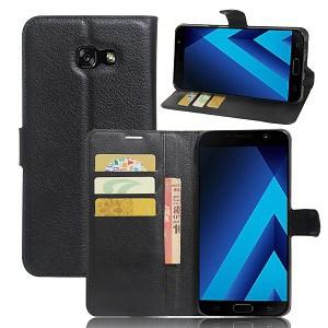 Samsung Galaxy A5 Black Wallet Case