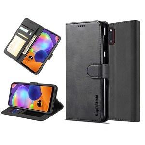 Samsung Galaxy A31 Black Wallet Leather Case