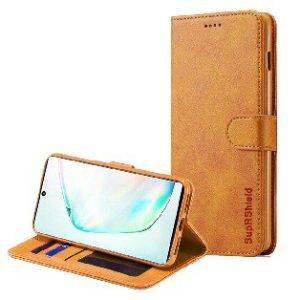 Samsung Galaxy A90 5G Brown Wallet Leather Case