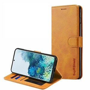 Samsung Galaxy S20 Plus Brown Wallet Leather Case