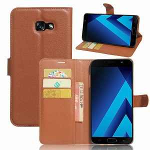 Samsung Galaxy A5 Brown Wallet Case