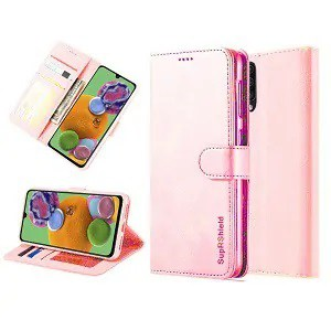 Samsung Galaxy A90 5G Rose Gold Wallet Leather Case
