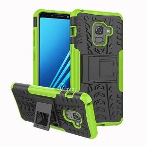 Samsung Galaxy A8 Green Heavy Duty Case