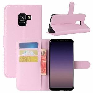 Samsung Galaxy A8 2018 Light Pink Wallet Case