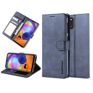 Samsung Galaxy A31 Navy Blue Wallet Leather Case