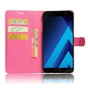 Samsung Galaxy A8 2018 Hot Pink Wallet Case