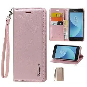Samsung Galaxy A8 Rose Gold Wallet Case