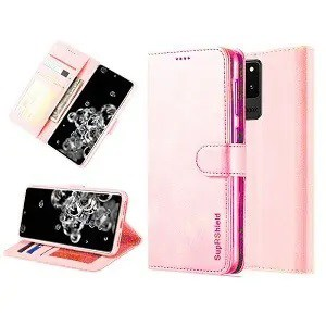 Samsung Galaxy S20 Ultra Rose Gold Wallet Leather Case