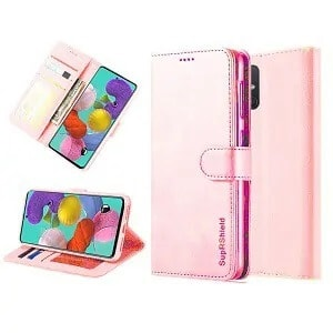 Samsung Galaxy A51 Rose Gold Wallet Leather Case