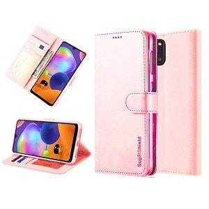 Samsung Galaxy A31 Rose Gold Wallet Leather Case