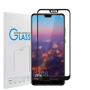 Huawei P20 Black Tempered Glass