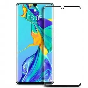 Huawei P30 Black Tempered Glass
