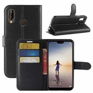 Huawei P20 Black Wallet Case