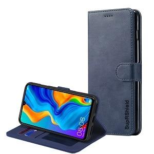 Huawei P30 Navy Blue Wallet Case