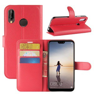 Huawei P20 Red Wallet Case